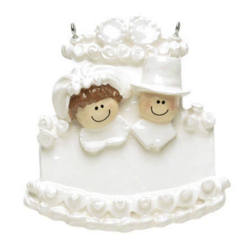 Free Personalization - Wedding Cake Ornament