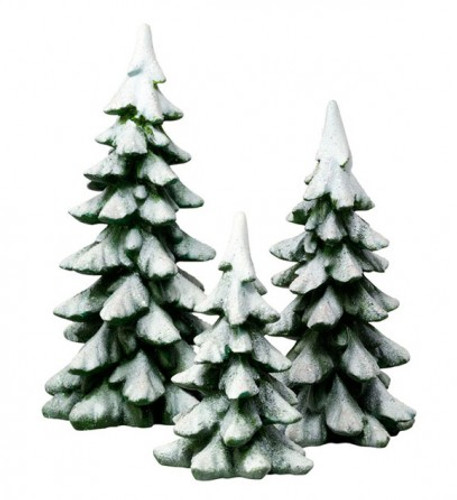 Department 56- Accessories- Winter Pines Set of 3
