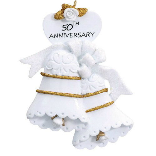 Free Personalization - 50th Anniversary Bells Ornament