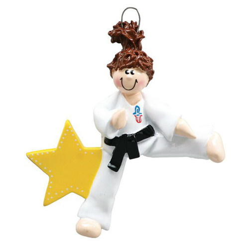 Free Personalization - Karate Girl Ornament