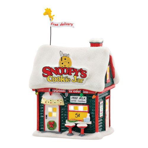 Department 56- Peanuts Village- Snoopy's Cookie Jar Building