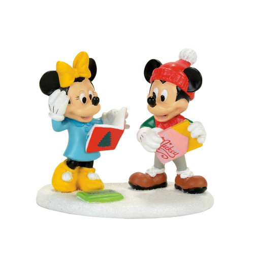 *New 2017* Department 56- Mickey Village Accessory-Micky and Minnie Card Exchange