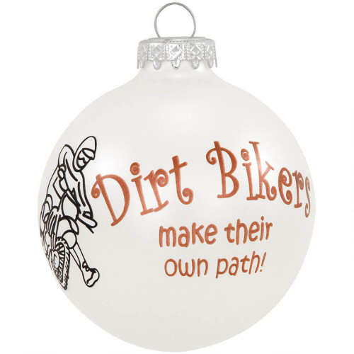 Dirt Biker Glass Ornament