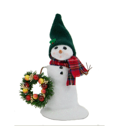 Byers' Choice- Snowman With Wreath