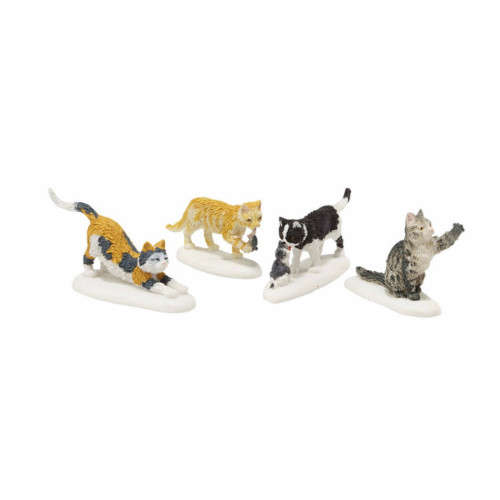 Department 56 - Village Accessory - Stray Cat Strut Set of 4