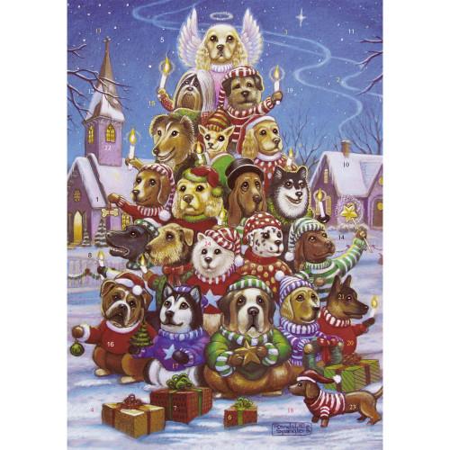 Dogs Christmas Paper Advent Calendar