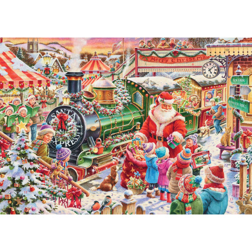 Santa's Train Paper Advent Calendar