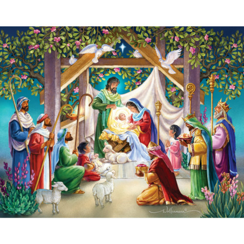 Magi at Manger Paper Advent Calendar
