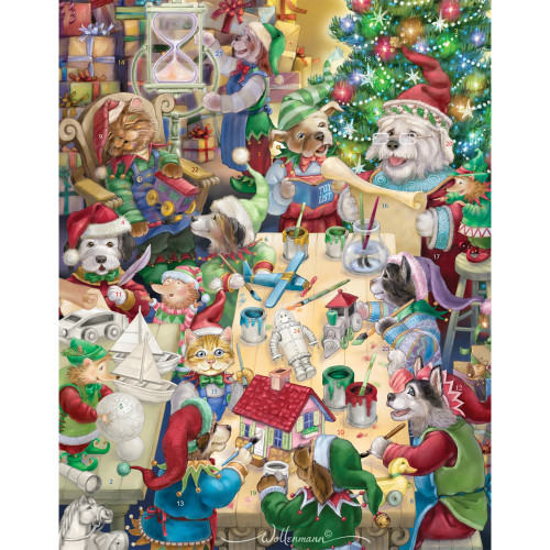North Pole Pets Paper Advent Calendar