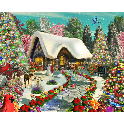 Snowy Delight 1000 Piece Jigsaw Puzzle
