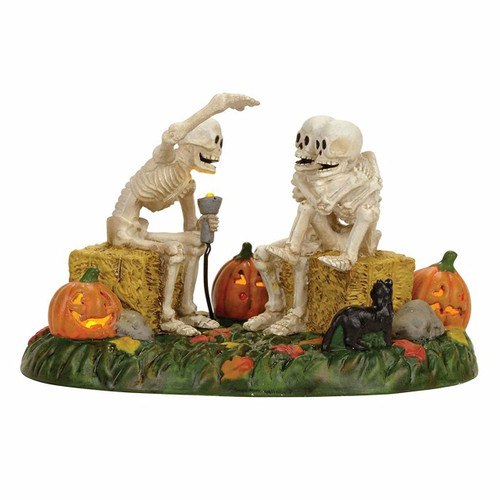 Department 56-Halloween Village Accessory- Scary Skeleton Stories