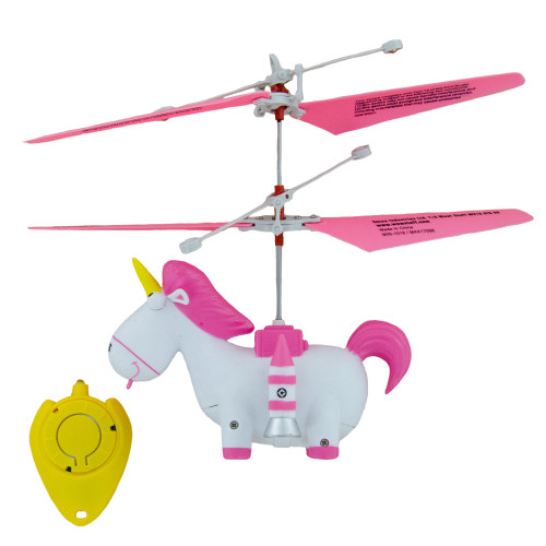 Despicable Me: Minion Flying Fluffy- Hand Controlled Helicopter Unicorn Fluffy Flier