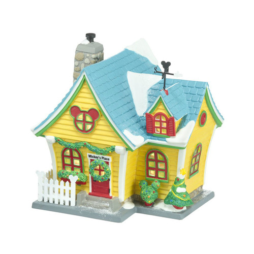 Department 56- Mickey Village Building-Mickey's House