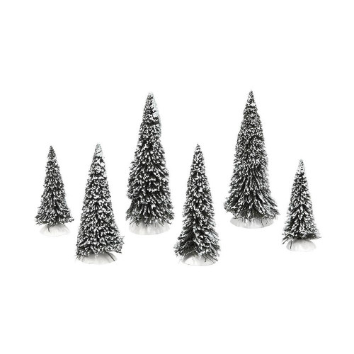 Department 56- General Accessory- Snow Covered Pines Set of 6