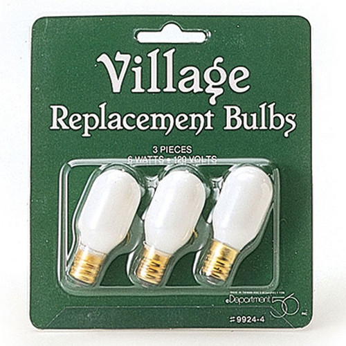 Department 56 Village- Set of 3 Replacement Bulbs