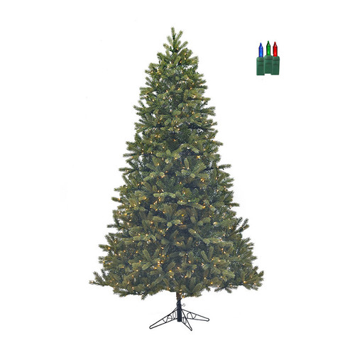 Santa's Own* 7.5ft Bridgeport Douglas Fir-  Artificial Christmas Tree - LED Color Changing with Remote and dimmer *FREE SHIPPING*