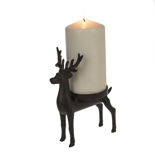 Deer Pillar Candle Holder