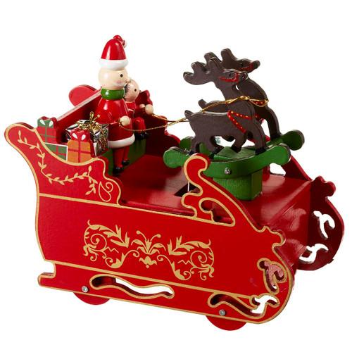 Wind Up Musical Santa's Sleigh