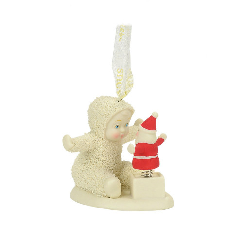 Department 56 - Snowbabies - Santa in a Box Ornament