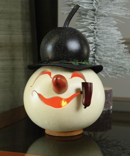 Meadowbrooke Gourds- Snowman Head Walter Lit