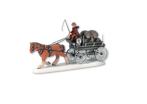 Department 56- Dickens' Village Accessories- Red Lion Beer Wagon