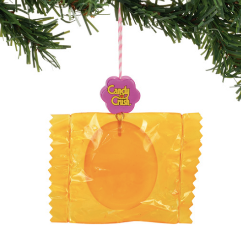 Candy Crush Orange Wrapped Ornament