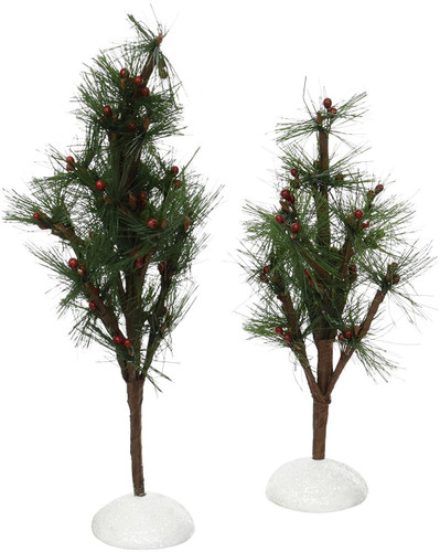 Department 56 -General Village - Berry Pines Set of 2