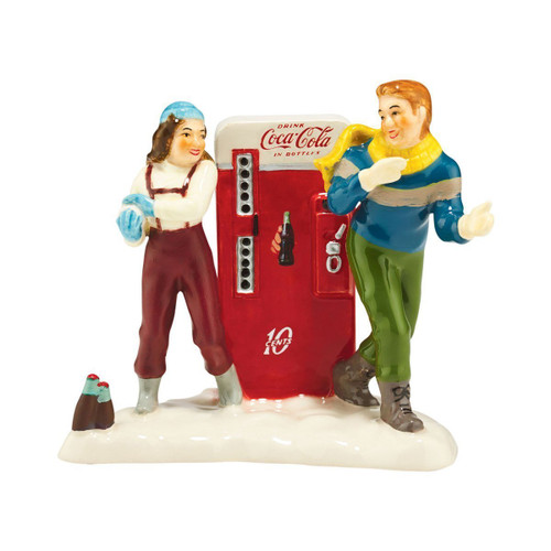 Department 56 - Original Snow Village- Coke Adds Life Accessory