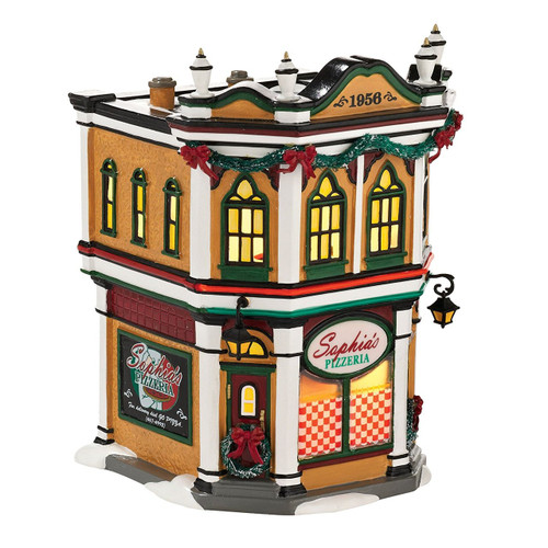 Department 56  - Original Snow Village - Sophia's Pizzeria Lit House