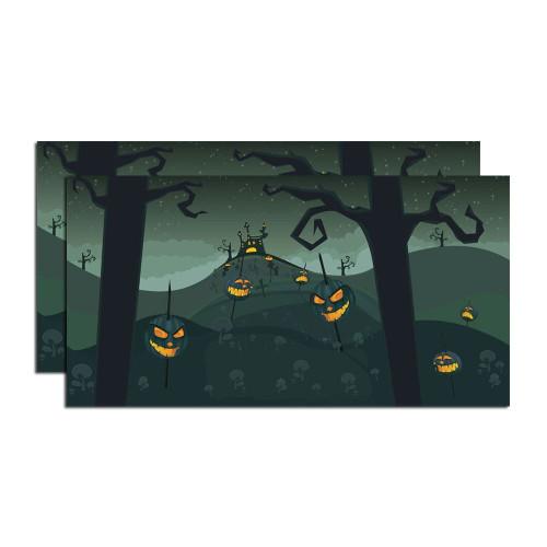 Department 56 - Halloween Village - Halloween Backdrop, Set of 2 Village