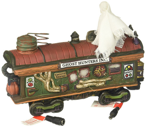 Department 56 - Halloween Village-  Scary Ghost Hauler Train