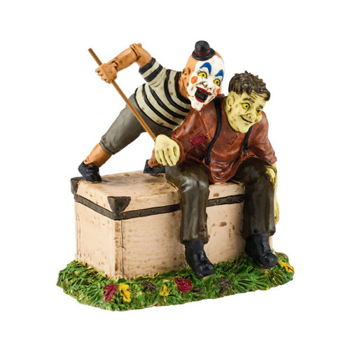 Department 56 - Snow Village - Halloween -Who's The Dummy Now?