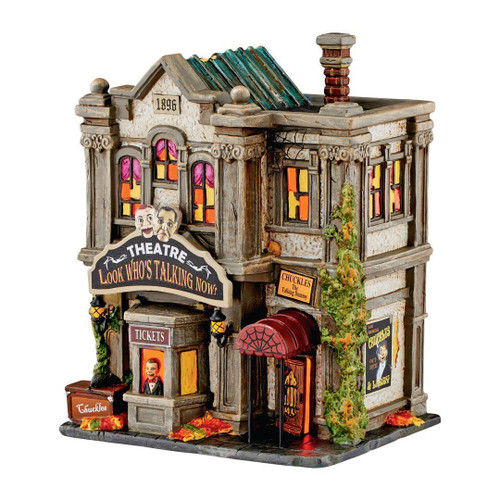 Department 56- Halloween Village- Look Who's Talking Now Theater Building