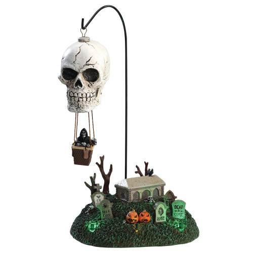 Lemax Spooky Town Halloween Reapers Landing Lighted and Animated Table Accent