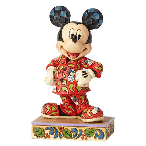 Jim Shore Disney Traditions- Mickey in Christmas Pajamas