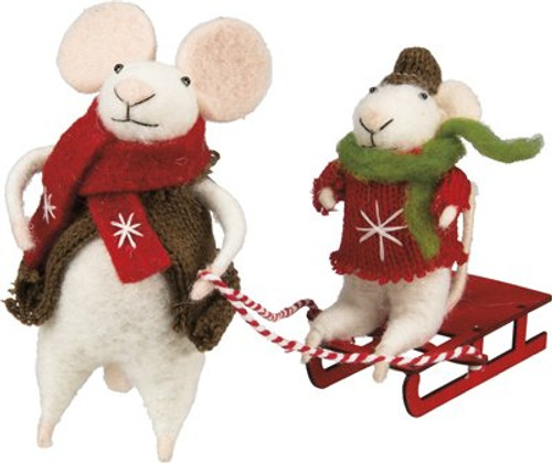 Rose & Baby Eddie Felt Mice