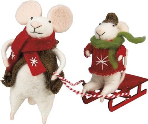 Rose & Baby Eddie Felt Mice