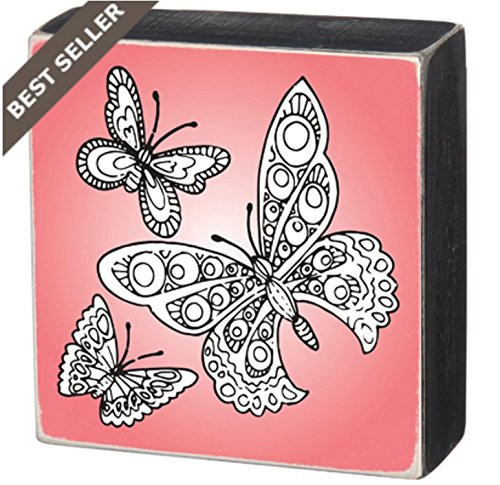 Primitives By Kathy - Color Sign - Butterflies