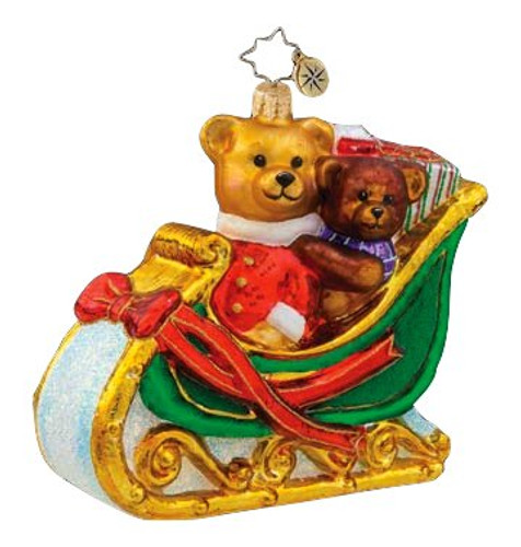 Christopher Radko Bears that Care Pediatric Cancer Awareness Ornament