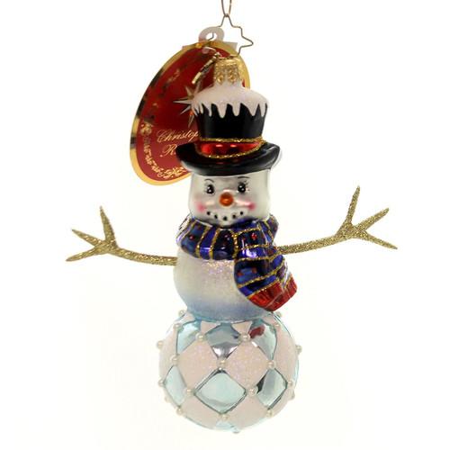 Christopher Radko Diamond Frosty Snowman Ornament