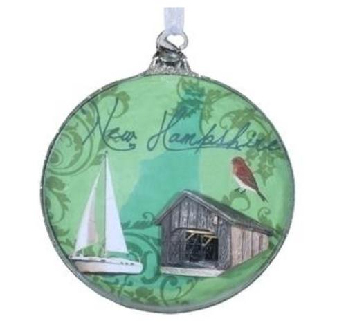 Roman - New Hampshire Glass Disk Ornament