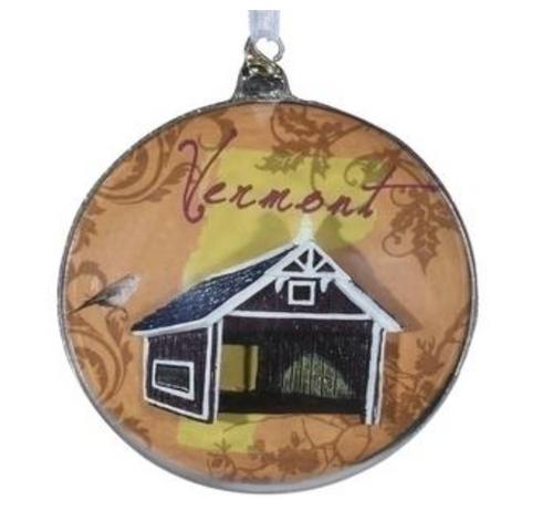 Roman - Vermont Glass Disk Ornament