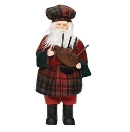 Scottish Santa Figurine
