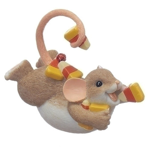 Charming Tails- Mouse on Belly with Candy Corn