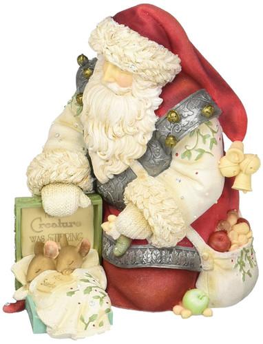 Heart of Christmas - Santa with Mice Figurine