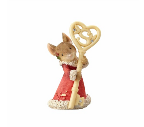 Heart of Christmas - Mouse With Santa Key figurine