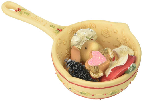 "Heart of ""Christmas Mouse in Measuring Cup Hanging Ornament"