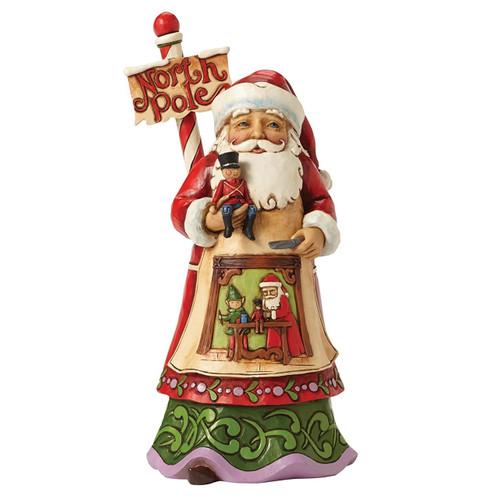 Jim Shore - Santa North Pole  Figurine