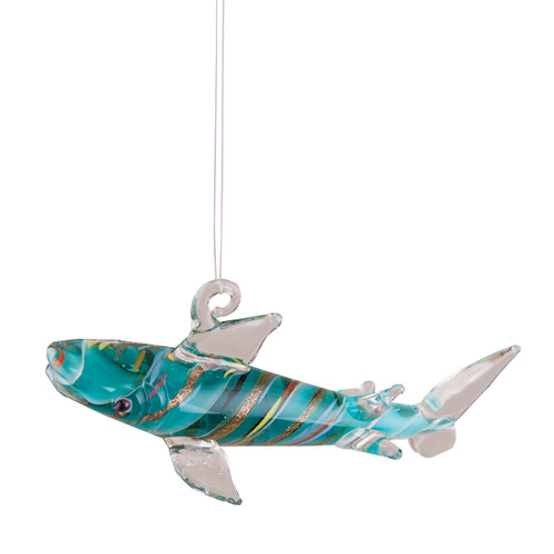 Glass Shark Ornament