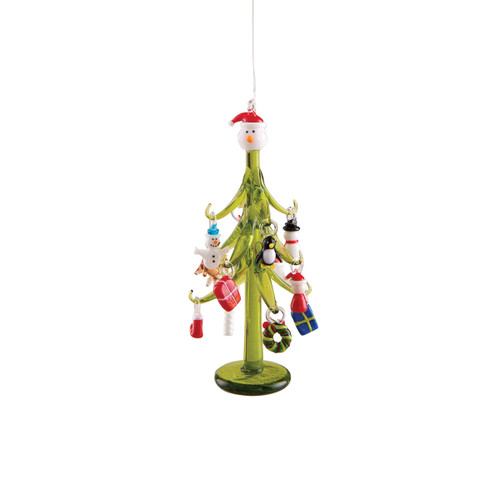 Holiday Charm Glass Tree